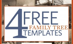 003 Amazing Family Tree Book Template Free Concept  History