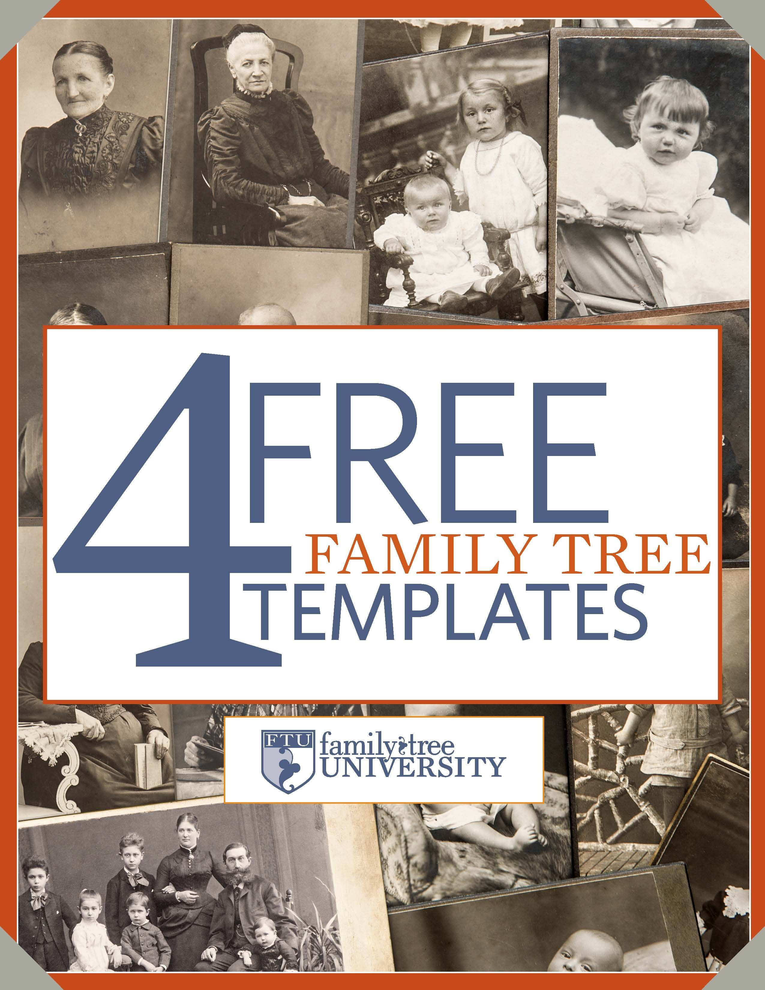 003 Amazing Family Tree Book Template Free Concept  HistoryFull