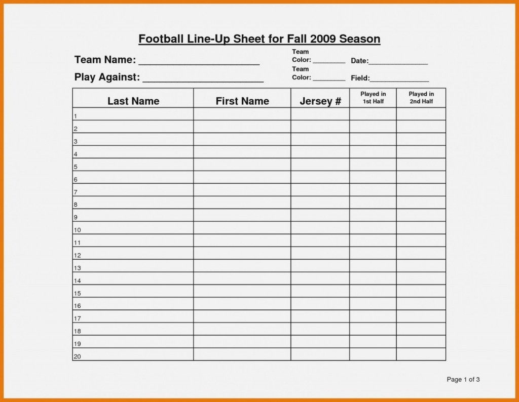 003 Amazing Football Depth Chart Template Idea  American Excel Format Pdf BlankLarge