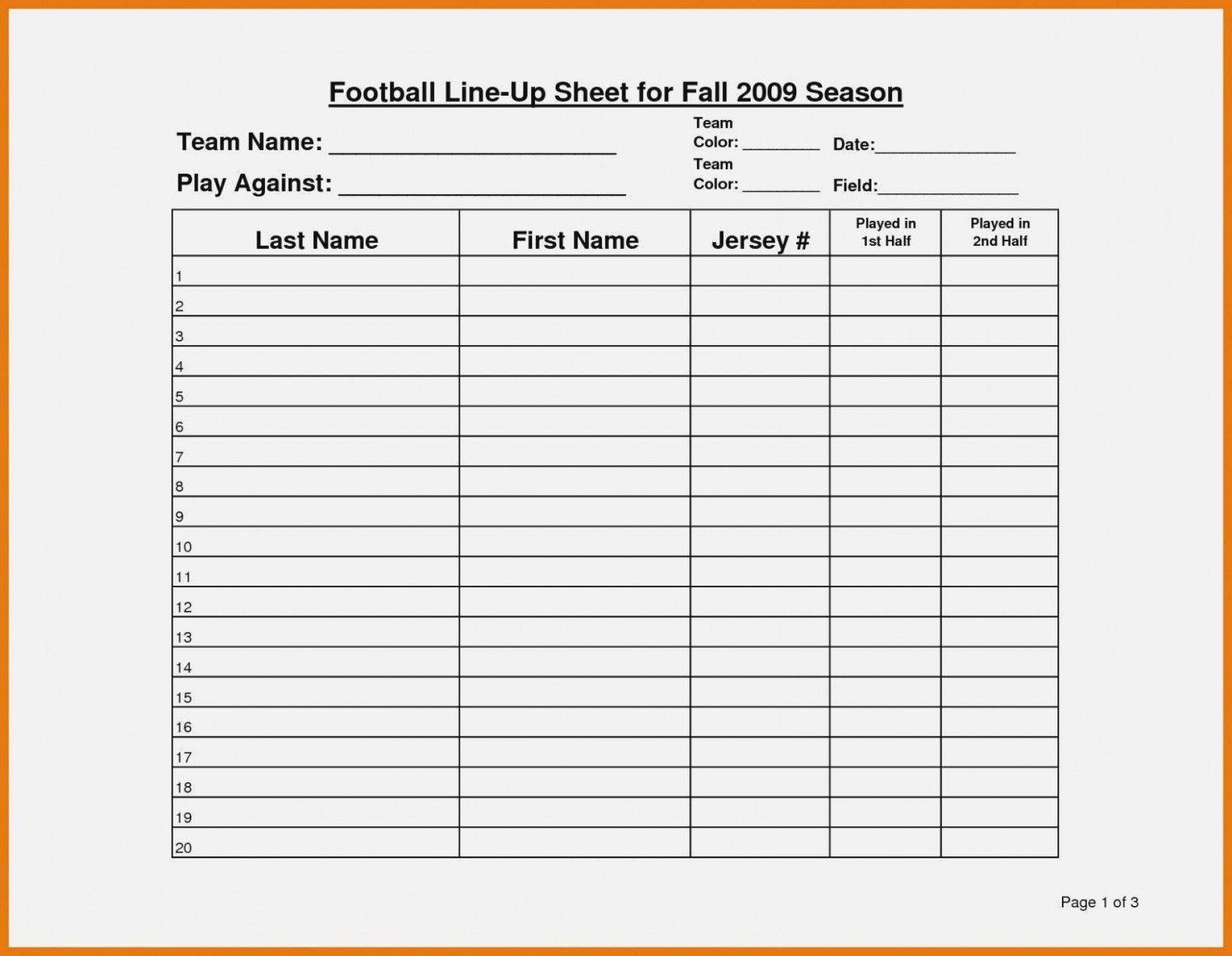 003 Amazing Football Depth Chart Template Idea  American Excel Format Pdf Blank1920