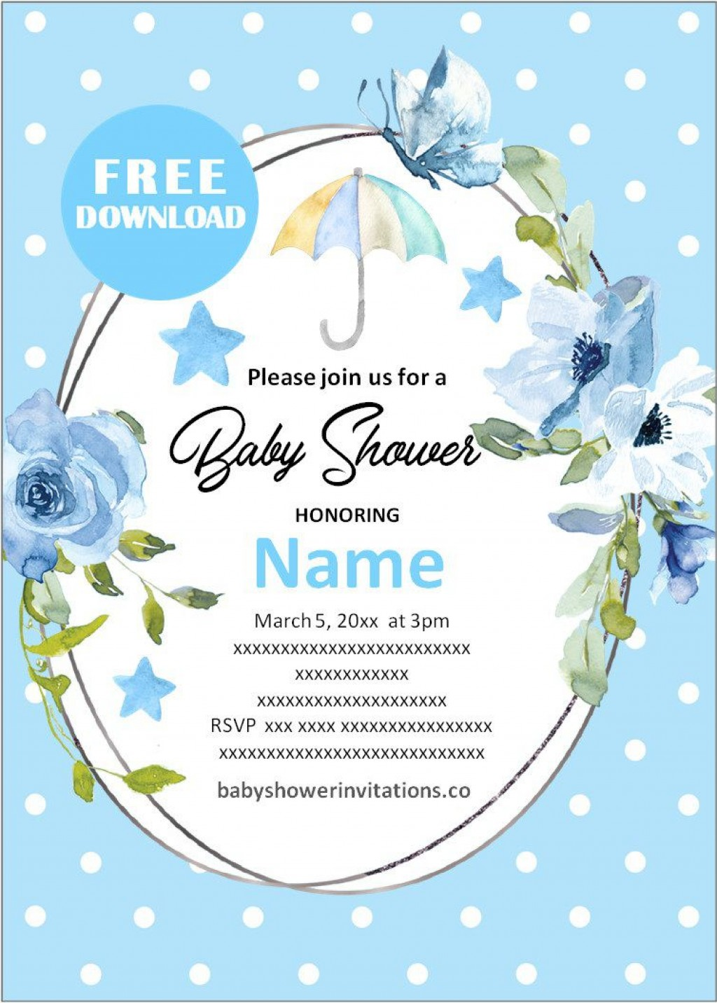 003 Amazing Free Baby Shower Invitation Printable Boy Concept  For Twin And GirlLarge