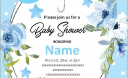 003 Amazing Free Baby Shower Invitation Printable Boy Concept  For Twin And Girl