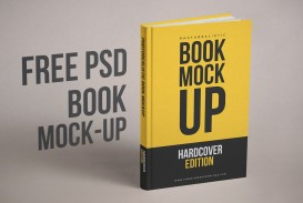 003 Amazing Free Download Book Cover Design Template Psd
