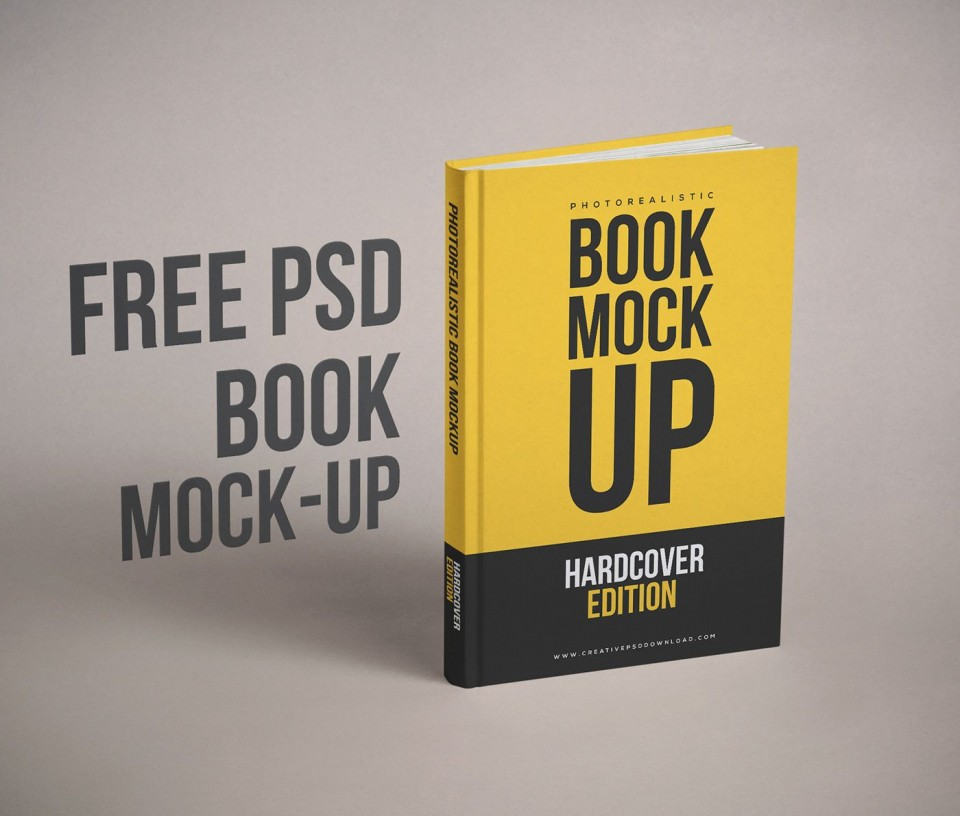 003 Amazing Free Download Book Cover Design Template Psd 960