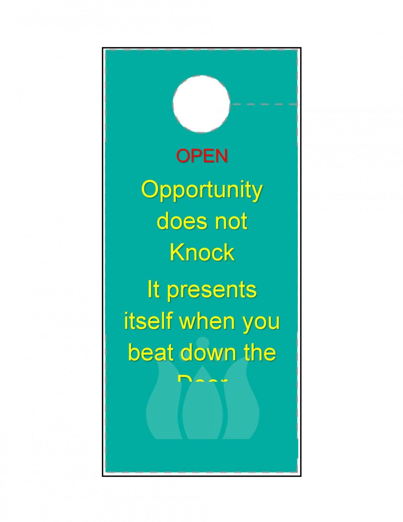 003 Amazing Free Download Door Hanger Template Inspiration 1400