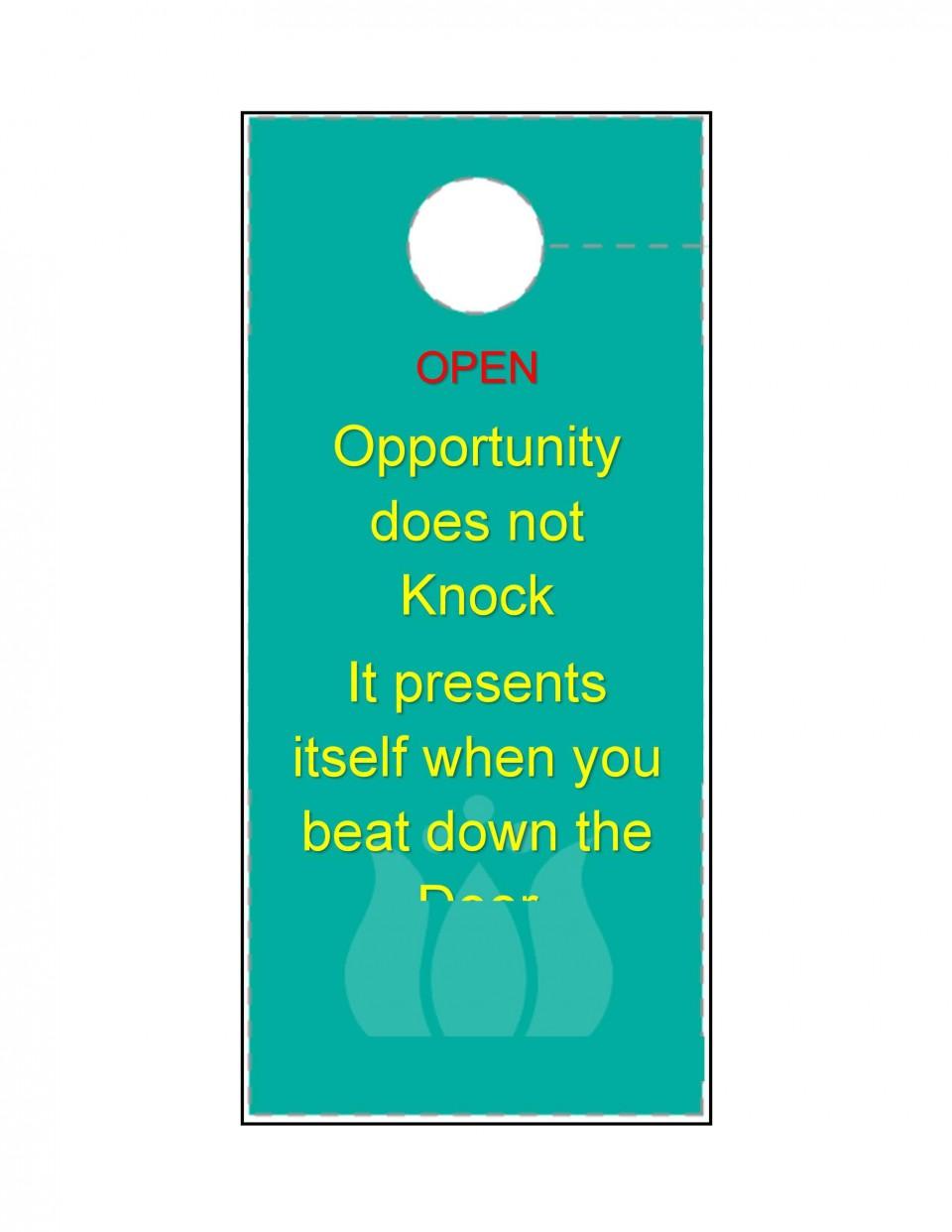 003 Amazing Free Download Door Hanger Template Inspiration 960