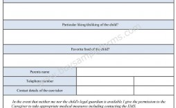 003 Amazing Free Printable Medical Consent Form Template Concept