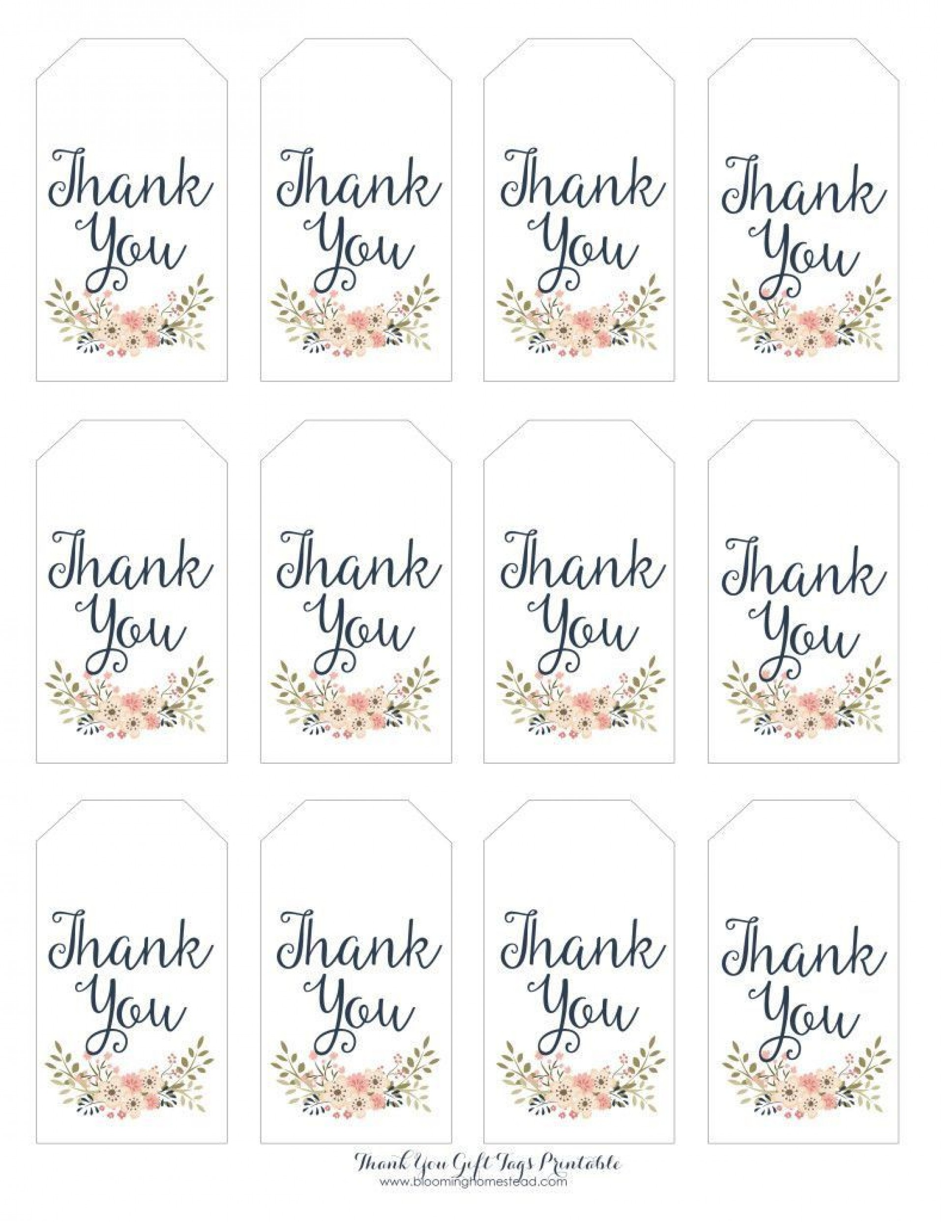 003 Amazing Free Printable Thank You Gift Tag Template High Def  Templates1920