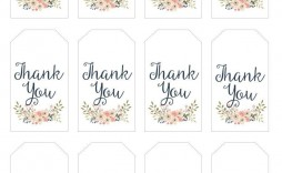 003 Amazing Free Printable Thank You Gift Tag Template High Def  Templates