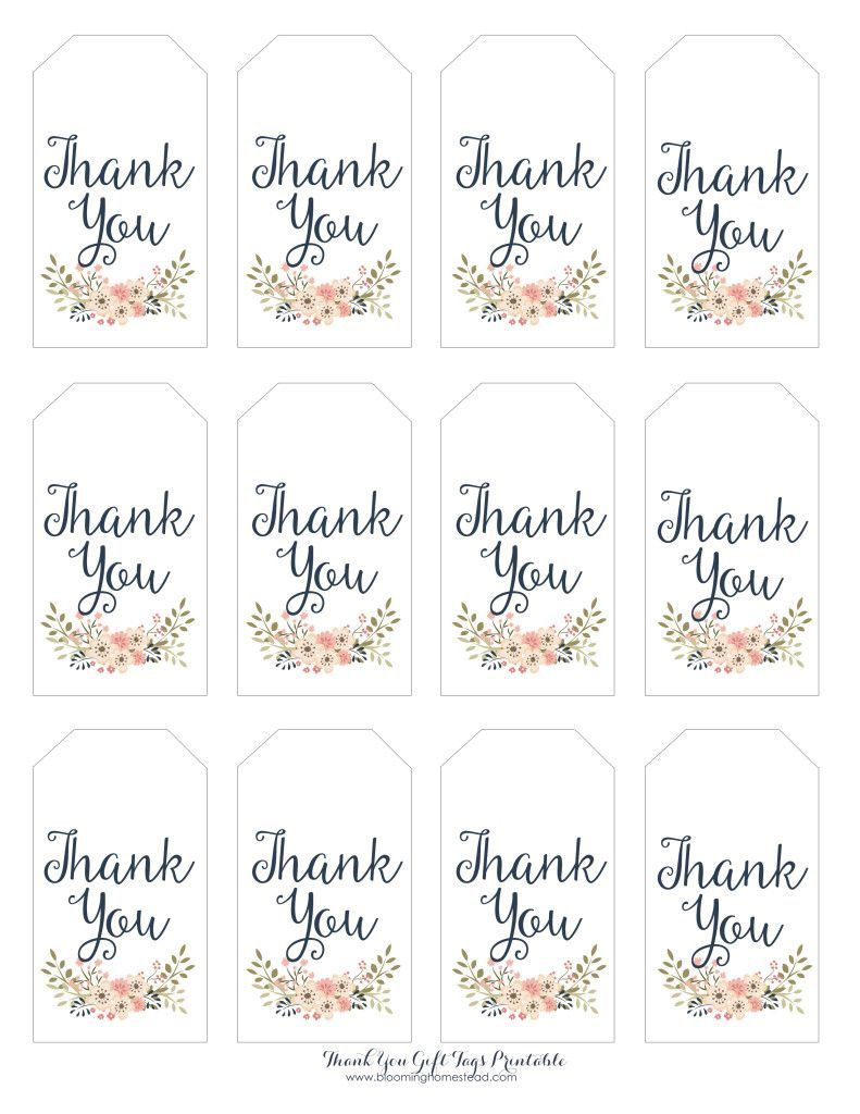 003 Amazing Free Printable Thank You Gift Tag Template High Def  TemplatesFull