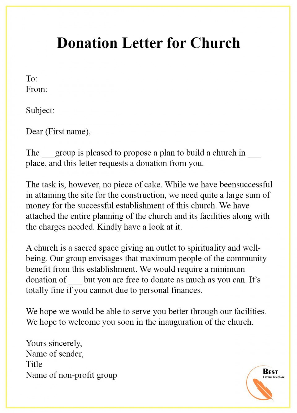 003 Amazing Fund Raising Letter Template High Definition  Fundraising For Mission Trip School Sample Of A Nonprofit Organization960