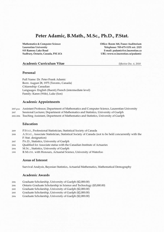 003 Amazing Graduate School Curriculum Vitae Template Highest Quality  For Application Resume Format1920