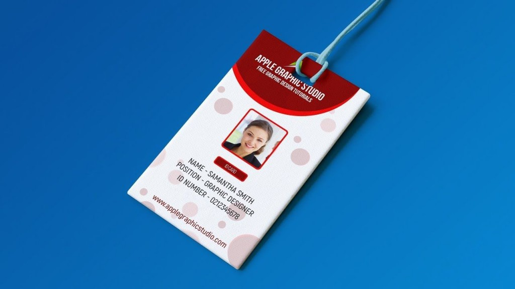 003 Amazing Id Badge Template Photoshop Photo  EmployeeLarge