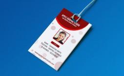 003 Amazing Id Badge Template Photoshop Photo  Psd Employee