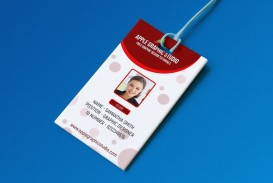 003 Amazing Id Badge Template Photoshop Photo  Employee