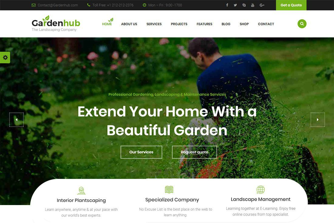 003 Amazing Lawn Care Website Template Inspiration Full