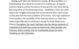003 Amazing Of Mice And Men Essay High Def  Topic Question