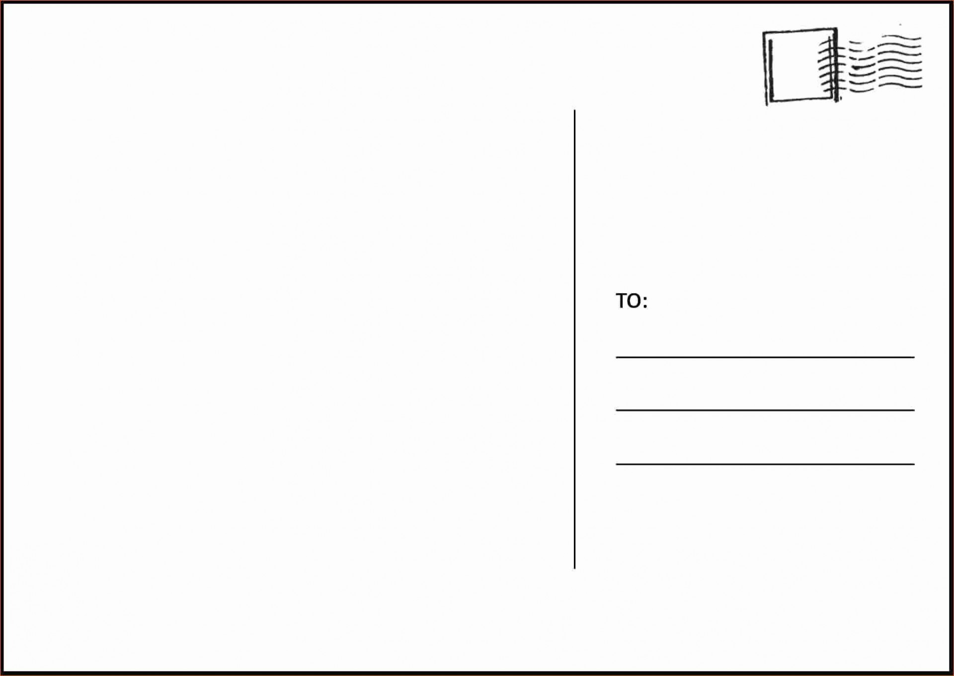 003 Amazing Postcard Layout For Microsoft Word Picture  4 Template1920