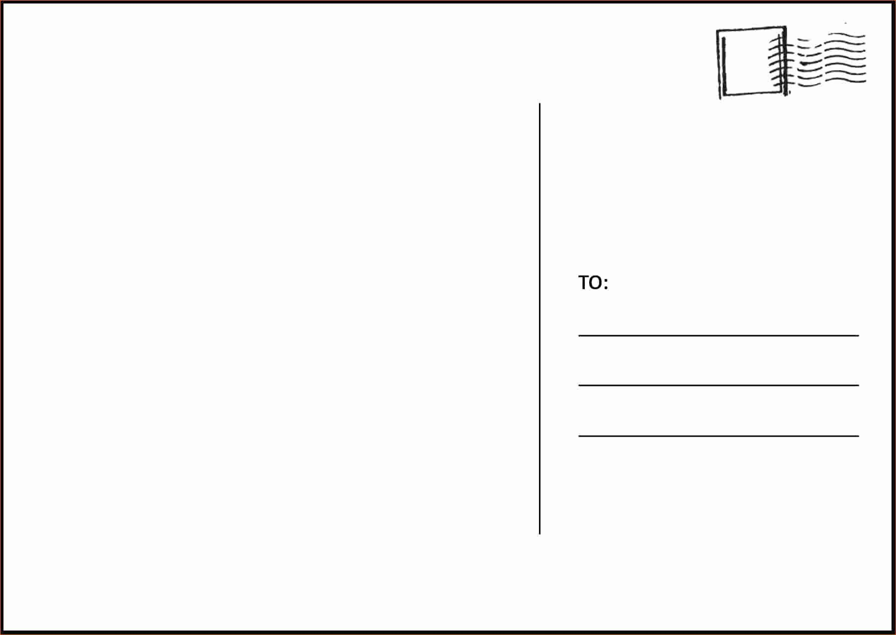 003 Amazing Postcard Layout For Microsoft Word Picture  4 TemplateFull