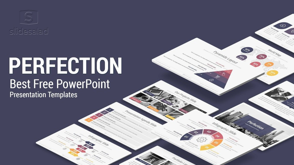 003 Amazing Professional Ppt Template Free Download Highest Clarity  For Project Presentation Powerpoint Thesi960