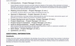 003 Amazing Project Kickoff Meeting Agenda Example  Management Template