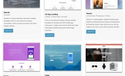 003 Amazing Single Page Website Template Idea  Templates Free Download One Html