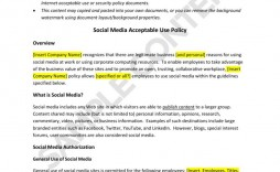 003 Amazing Social Media Policie Template High Definition  Policy For Busines Example Nonprofit Australia Small