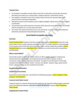 003 Amazing Social Media Policie Template High Definition  Simple Policy Australia Example For Small Busines320