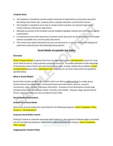 003 Amazing Social Media Policie Template High Definition  Simple Policy Australia Example For Small Busines360