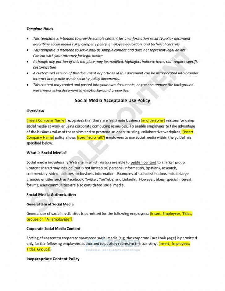 003 Amazing Social Media Policie Template High Definition  Simple Policy Australia Example For Small Busines728