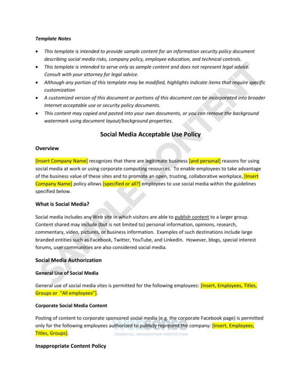 003 Amazing Social Media Policie Template High Definition  Simple Policy Australia Example For Small Busines960