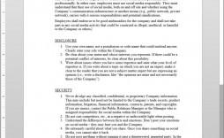 003 Amazing Social Media Policy Template Photo  Example Nz Australia Free Uk