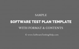 003 Amazing Software Test Plan Template Image  Templates