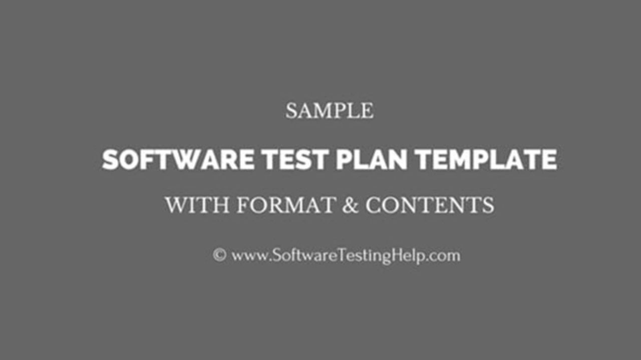 003 Amazing Software Test Plan Template Image  TemplatesFull