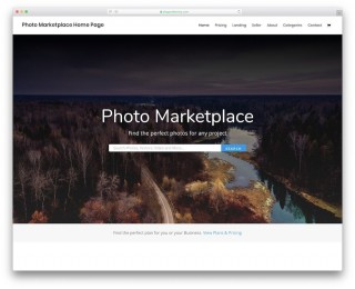 003 Amazing Web Template For Photographer Concept  Photography320
