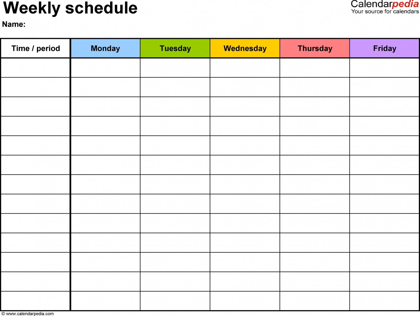 003 Amazing Weekly Schedule Template Pdf Photo  Employee Free Work Lesson Plan Format1400