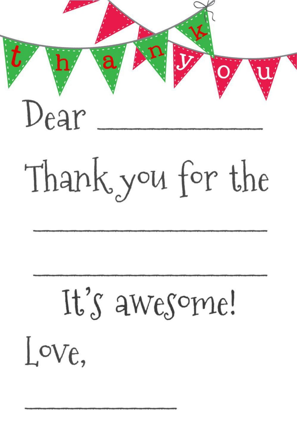 003 Archaicawful Christma Thank You Note Template Free Design  Letter CardLarge