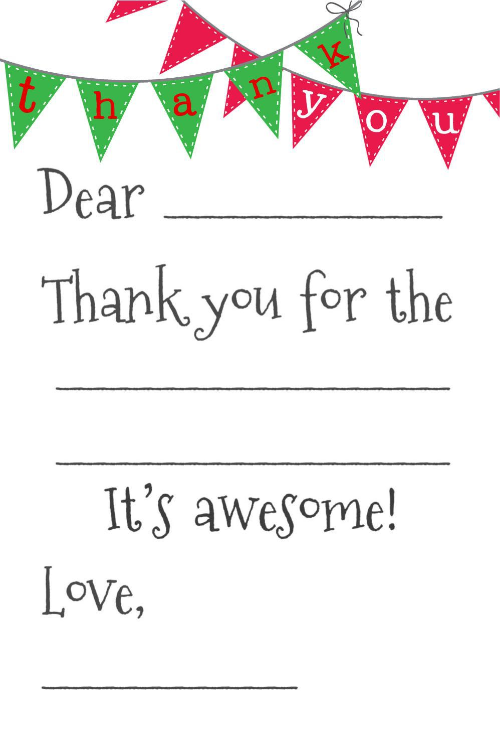 003 Archaicawful Christma Thank You Note Template Free Design  Letter CardFull