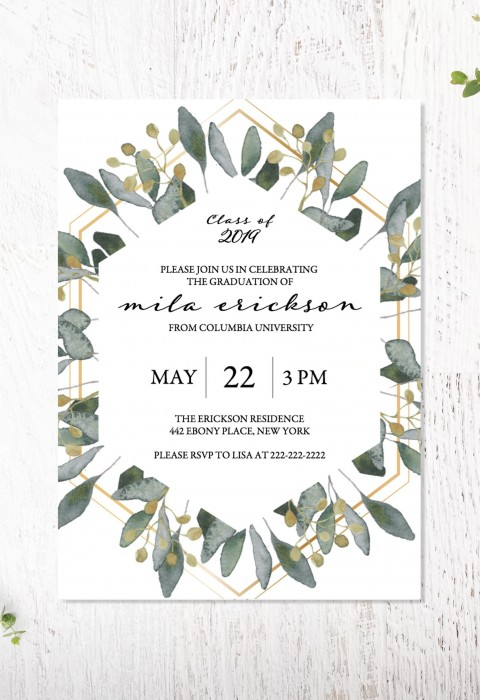 003 Archaicawful College Graduation Invitation Template Design  Party Free For Word480