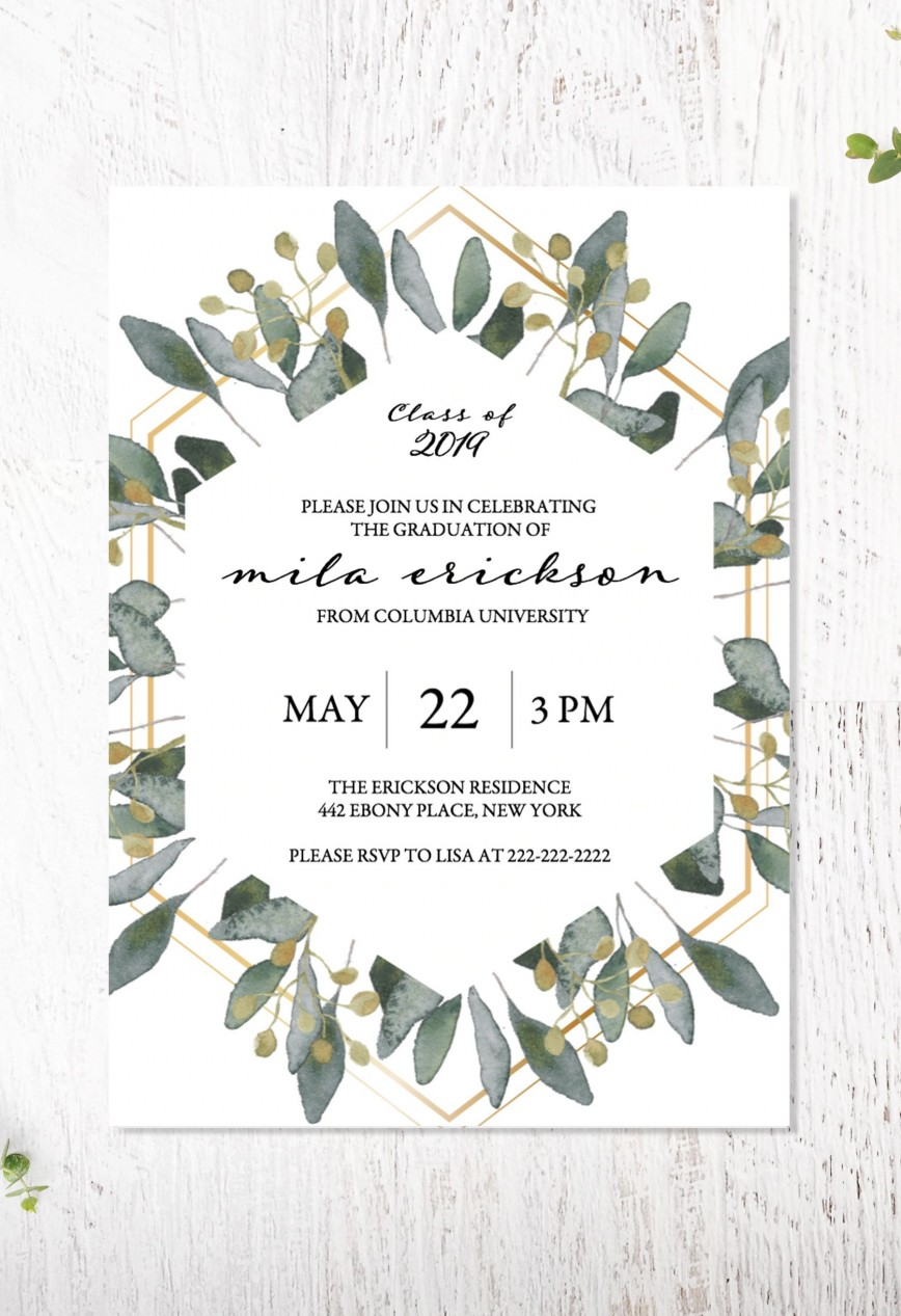 003 Archaicawful College Graduation Invitation Template Design  Party Free For Word868