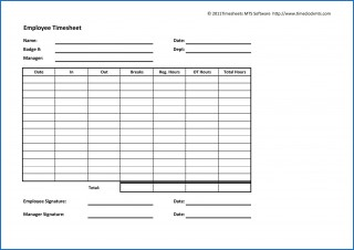 003 Archaicawful Employee Time Card Printable Idea  Timesheet Template Excel Free Multiple Sheet320