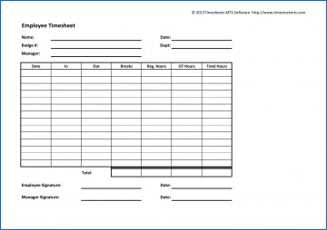 003 Archaicawful Employee Time Card Printable Idea  Timesheet Template Excel Free Multiple Sheet360