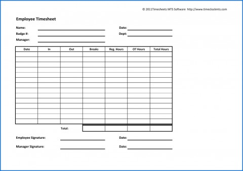 003 Archaicawful Employee Time Card Printable Idea  Timesheet Template Excel Free Multiple Sheet480