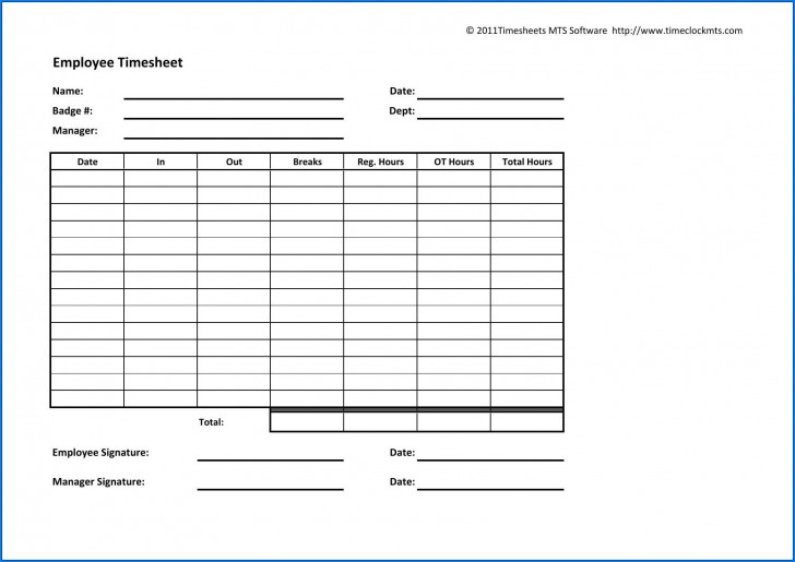 003 Archaicawful Employee Time Card Printable Idea  Timesheet Template Excel Free Multiple Sheet728