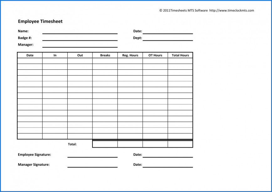 003 Archaicawful Employee Time Card Printable Idea  Timesheet Template Excel Free Multiple Sheet868