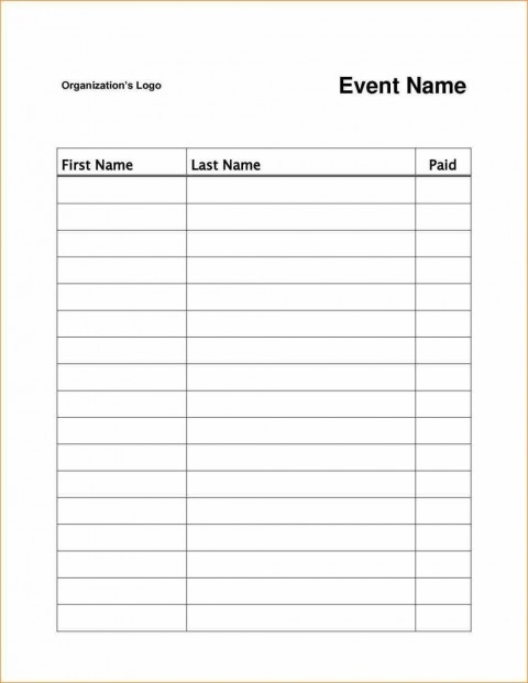 003 Archaicawful Event Sign Up Sheet Template High Resolution  In Google Doc Free480