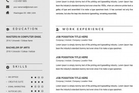 003 Archaicawful Example Cv Template Word  Resume Microsoft