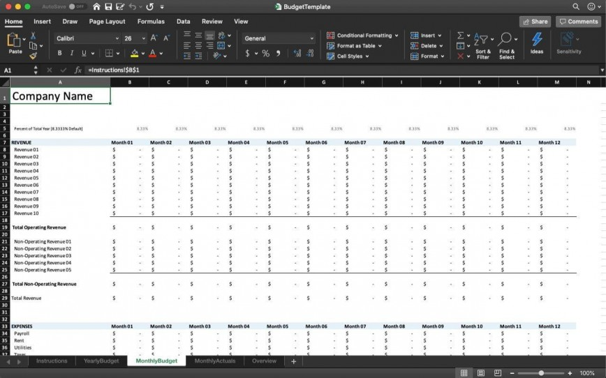 003 Archaicawful Excel Busines Budget Template High Definition  Small Monthly Free
