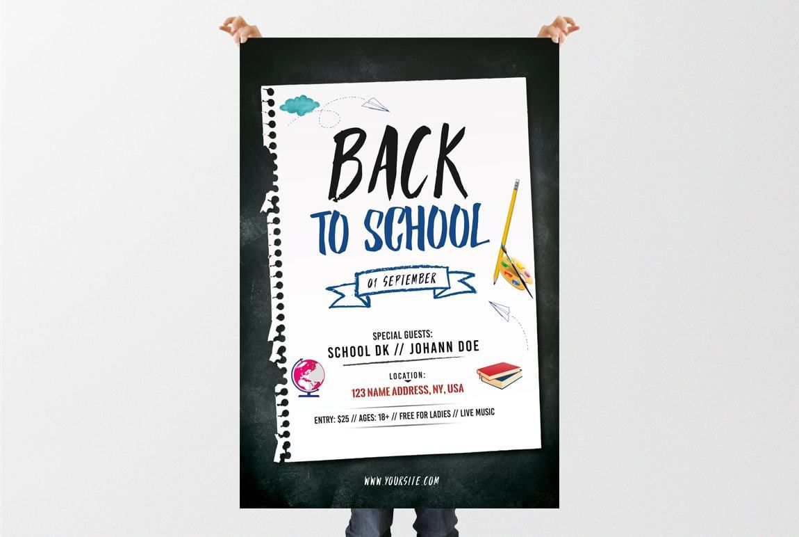 003 Archaicawful Free Back To School Flyer Template Psd Idea Full