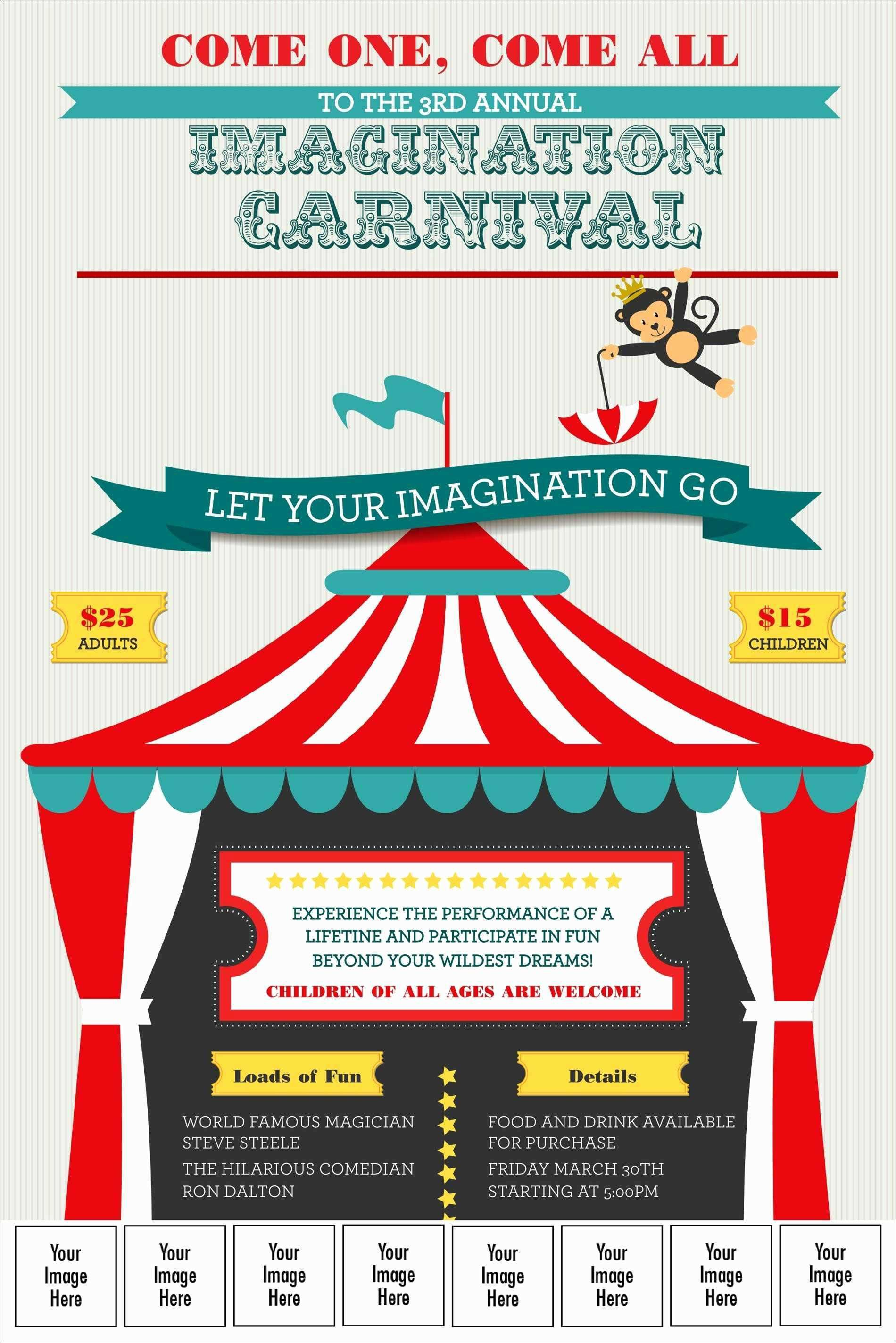 003 Archaicawful Free School Carnival Flyer Template Design  Templates DownloadFull
